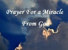 Prayer for a miracle